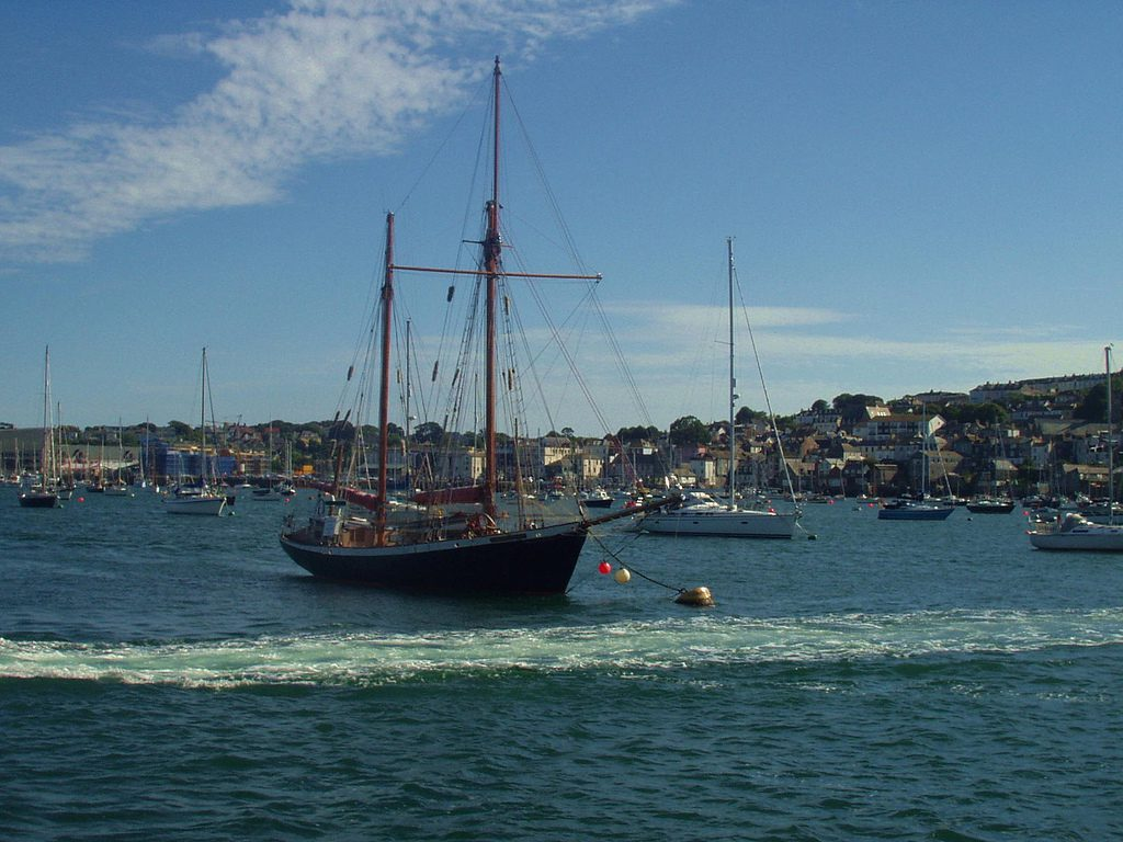 Boats in Falmouth Harbour