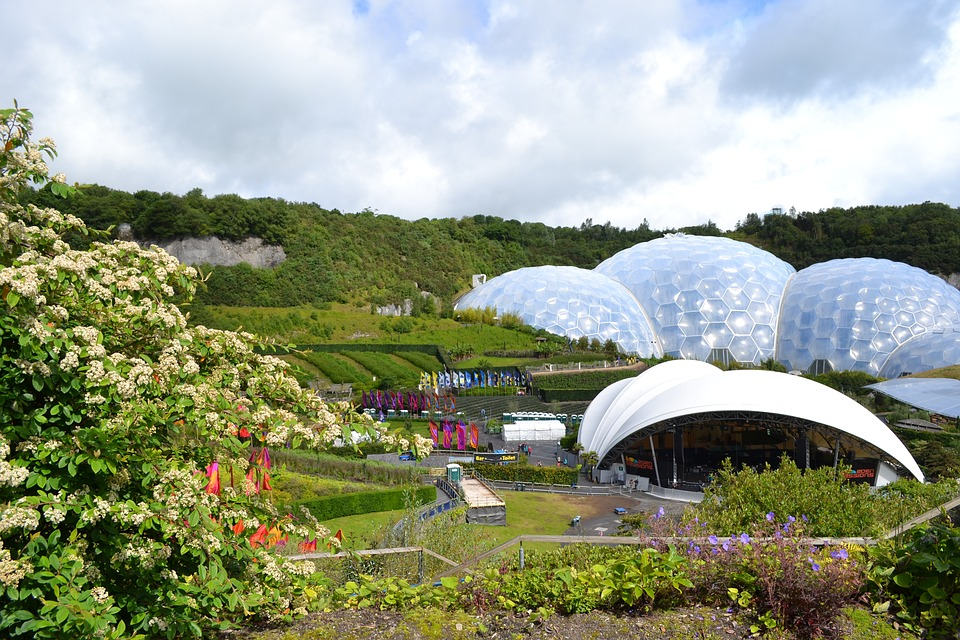 The biomes at Eden Project