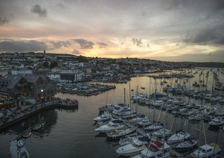 View of Falmouth harbour