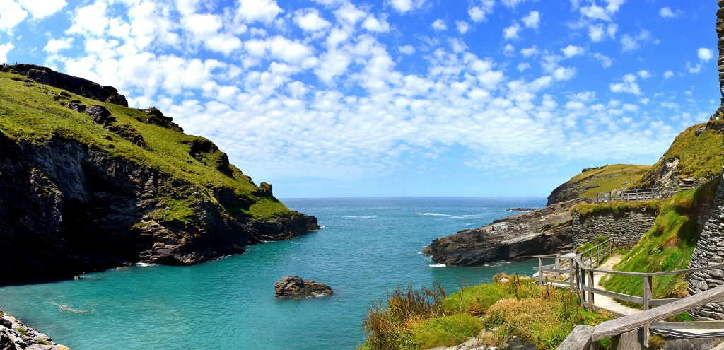 stunning landscape at Tintagel Castle