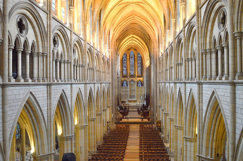 The inside of Truro Cathedral, Cornwall.