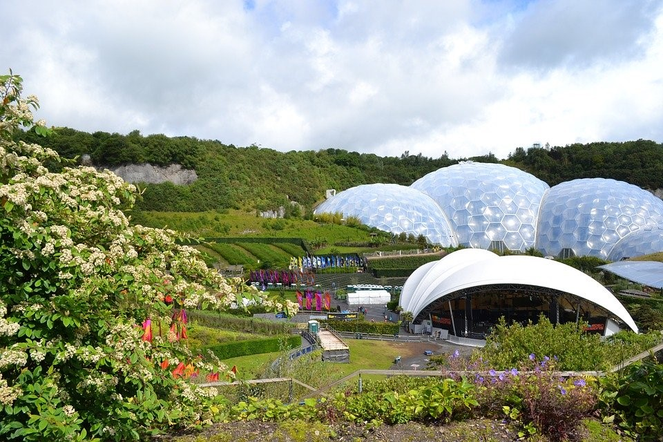 Eden Project biomes and garden