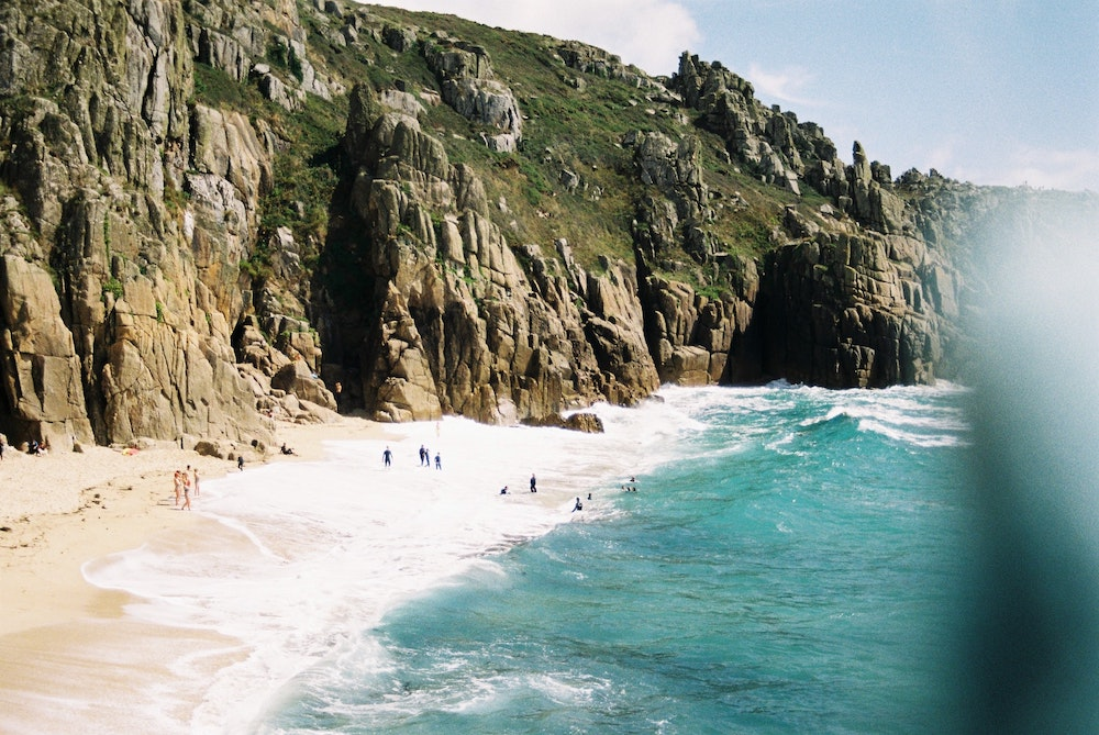 A beach on Cornwall's South West Coast Path