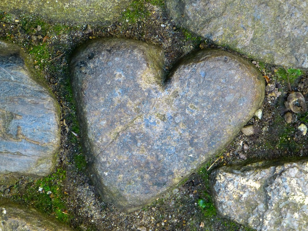 The heart rock at St Michael's Mount, Cornwall.