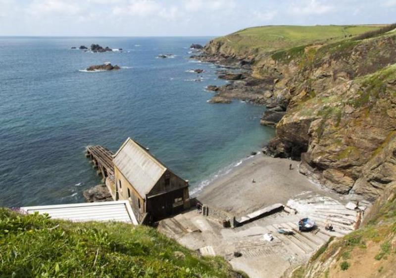 The RNLI boathouse at Lizard