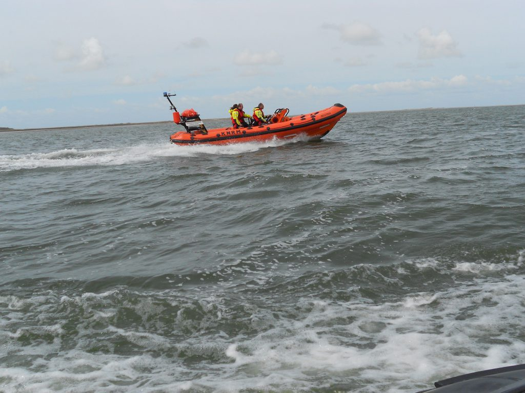 A lifeboat on a rescue mission