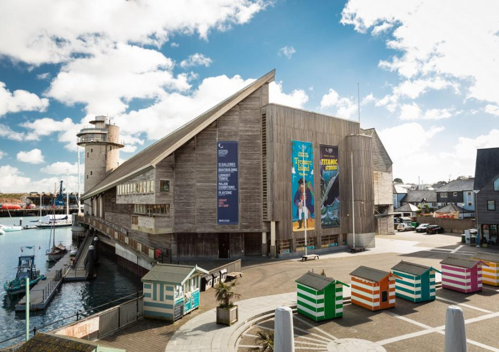 The National Maritime Museum Cornwall from outside