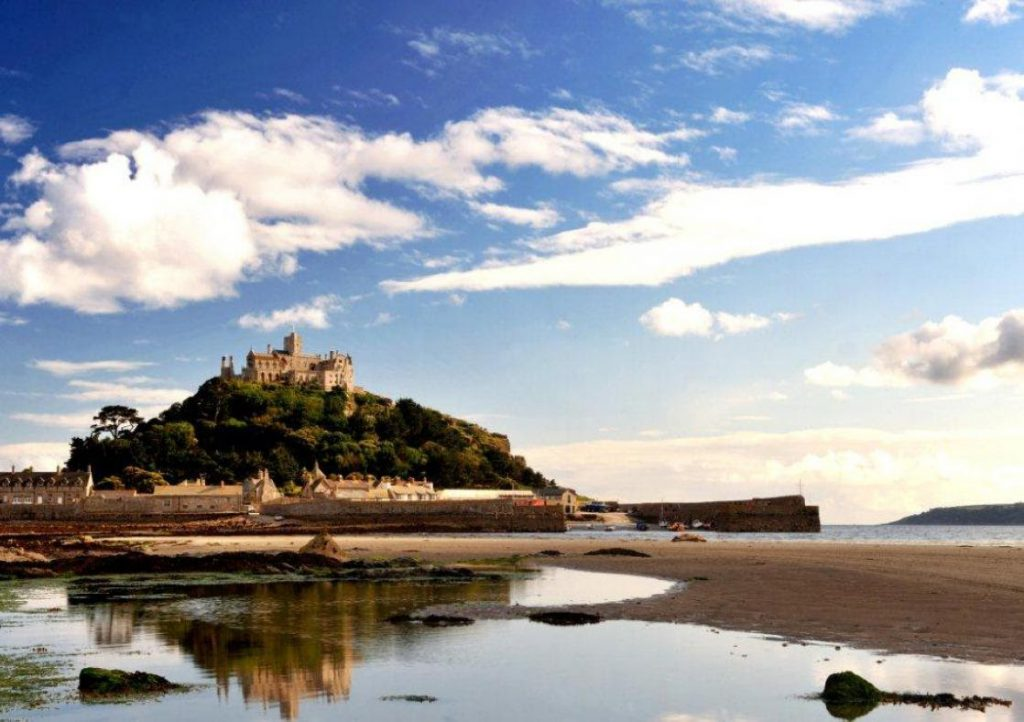 A shot of St Michael's Mount on a sunny day