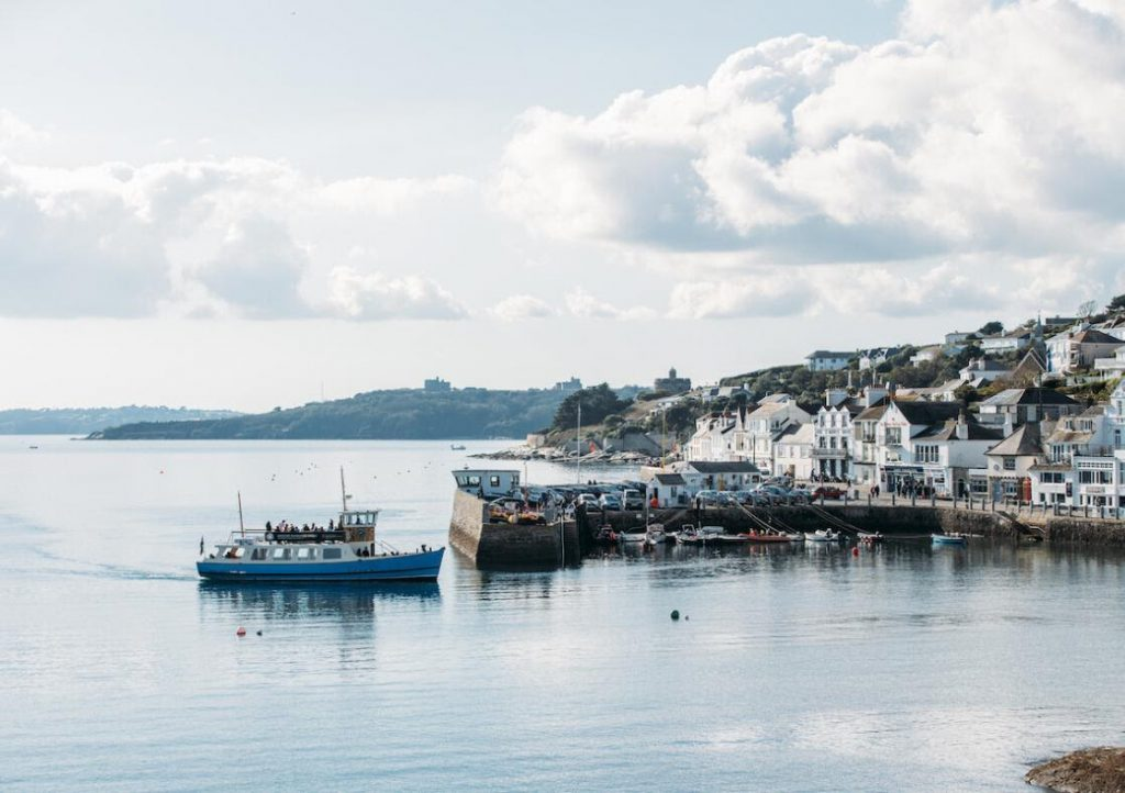 A ferry at St Mawes port