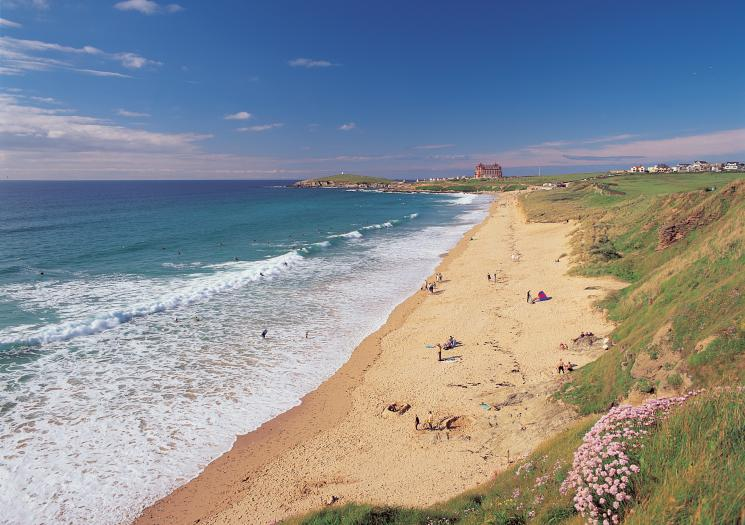 Fistral Beach on a clear day