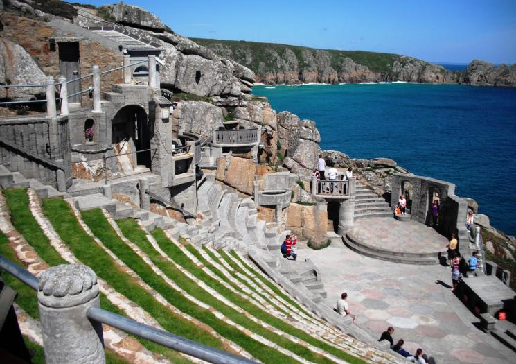 The empty Minack Theatre on a clear day