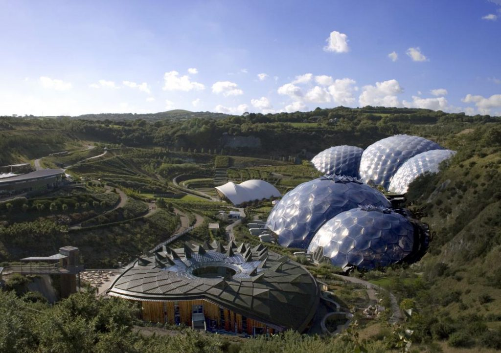The Eden project from afar