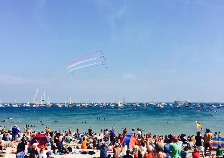 The Red Arrow display at Falmouth week
