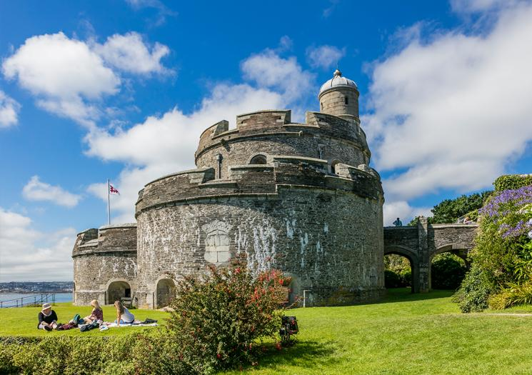 St Mawes Castle on a clear day