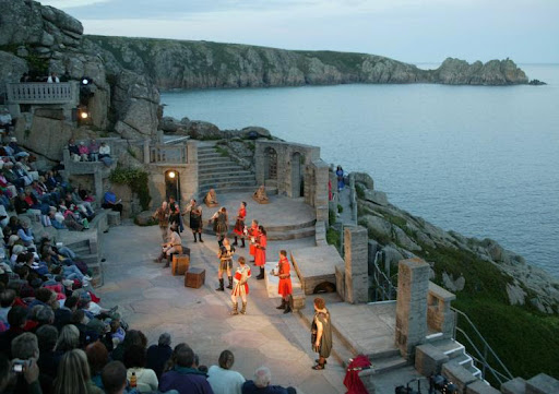 A show at the Minack Theatre
