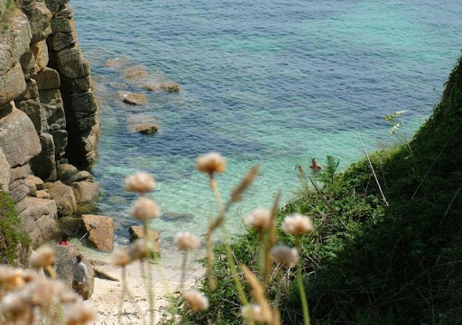 Porthgwarra Cove from the cliffs