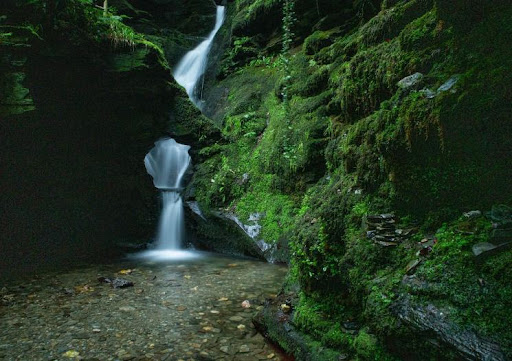 The waterfall at St Nectan's Glen