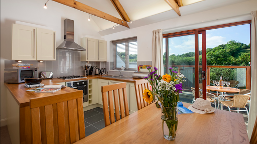 An open kitchen within a cottage